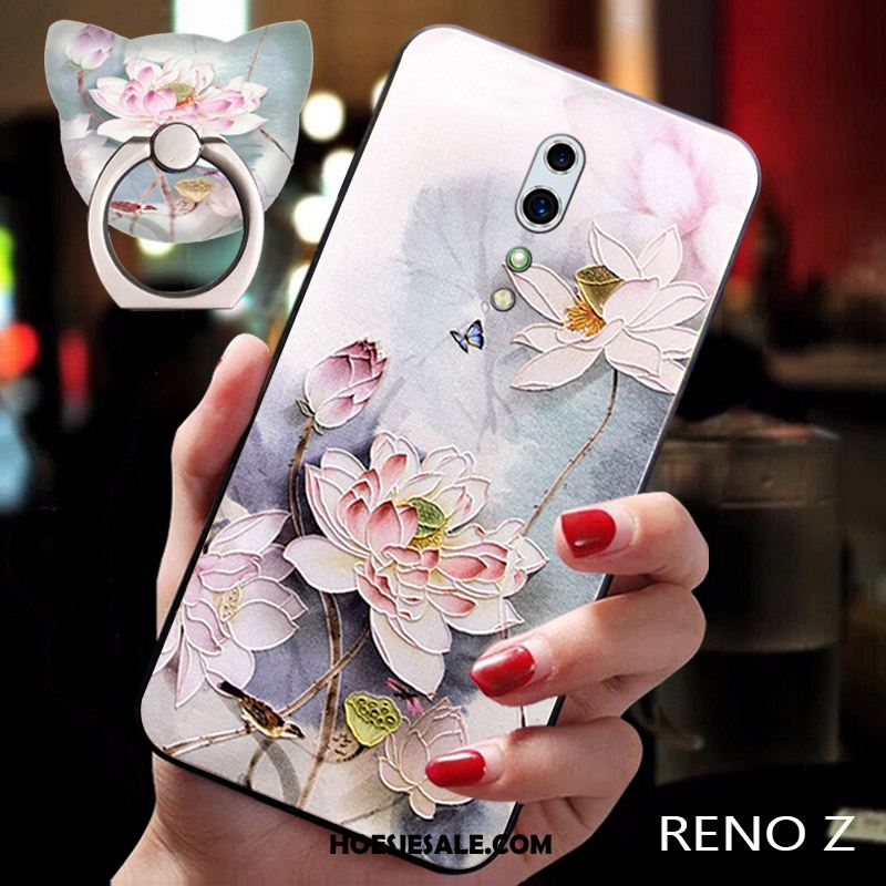 Oppo Reno Z Hoesje All Inclusive Prunus Anti-fall Maand Trendy Merk Kopen