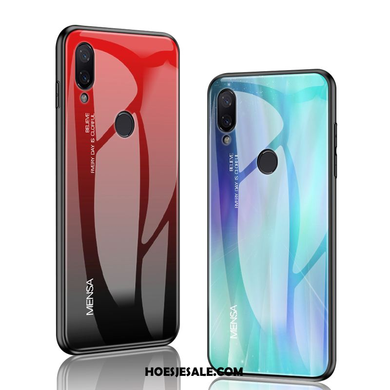 Redmi Note 7 Hoesje All Inclusive Scheppend Glas Hoes Rood Kopen