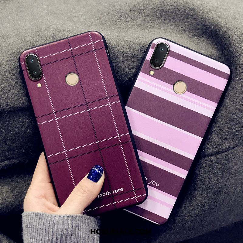 Redmi Note 7 Hoesje Dun Anti-fall Schrobben Purper Trendy Merk Goedkoop