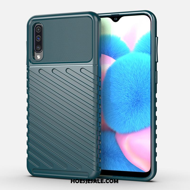 Samsung Galaxy A30s Hoesje Mobiele Telefoon Blauw Anti-fall Ster Hoes Korting