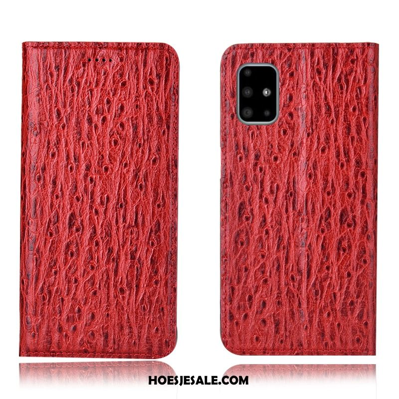 Samsung Galaxy A71 Hoesje Folio Ster Rood All Inclusive Patroon Online