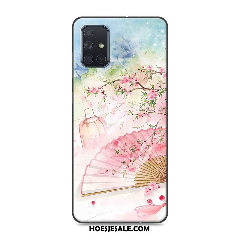 Samsung Galaxy A71 Hoesje Hoes Chinese Stijl Bescherming Roze Ster Online