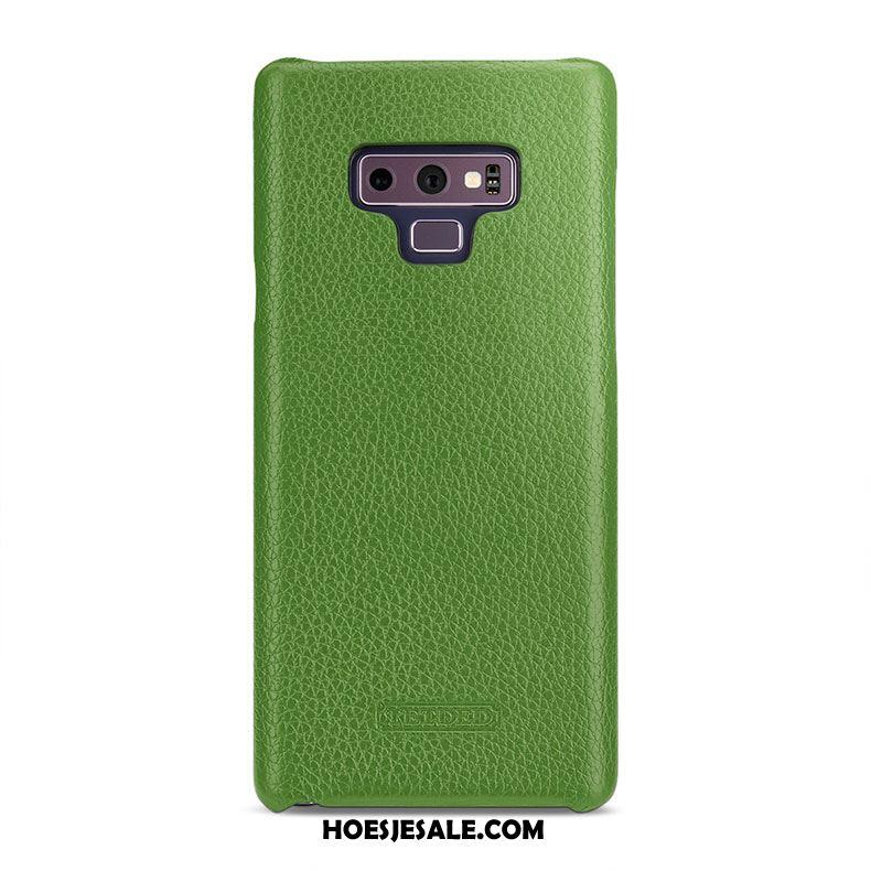 Samsung Galaxy Note 9 Hoesje Bescherming Echt Leer Ster Achterklep Mobiele Telefoon Winkel