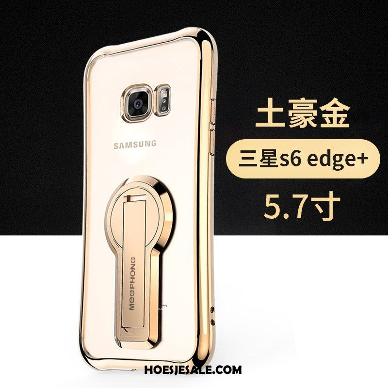Samsung Galaxy S6 Edge Hoesje Anti-fall Goud Hoes Ster Ondersteuning Sale