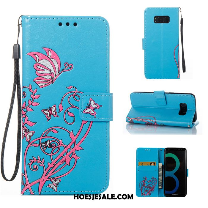Samsung Galaxy S8 Hoesje All Inclusive Blauw Clamshell Hoes Siliconen Sale