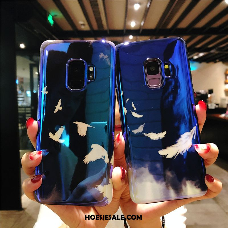 Samsung Galaxy S9 Hoesje All Inclusive Siliconen Hoes Blauw Anti-fall Kopen