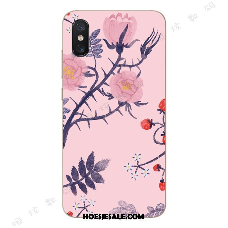Xiaomi Mi 8 Pro Hoesje All Inclusive Anti-fall Patroon Bloemen Roze Sale