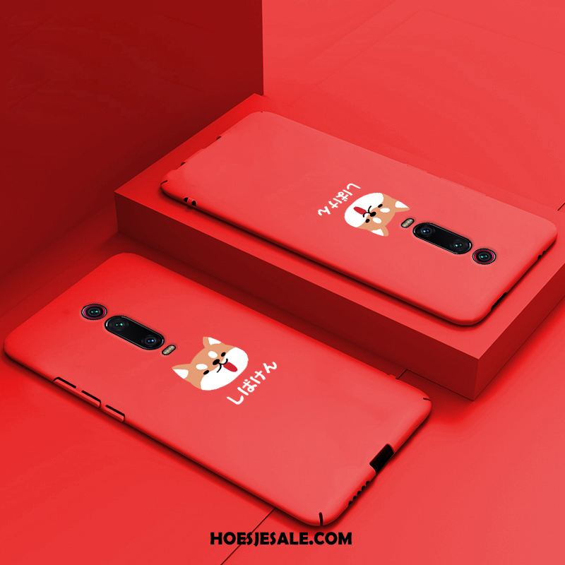 Xiaomi Mi 9t Hoesje All Inclusive Dun Anti-fall Hard Rood Goedkoop