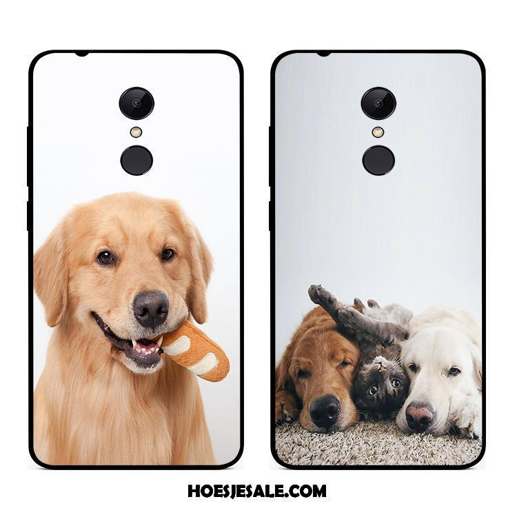 Xiaomi Redmi 5 Plus Hoesje Rood Hond Wit Anti-fall All Inclusive Sale