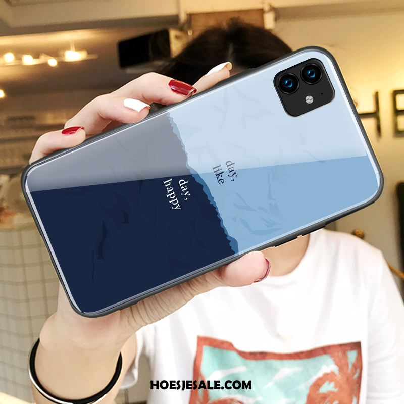 iPhone 11 Hoesje Spotprent Blauw Nieuw All Inclusive Hoes Sale