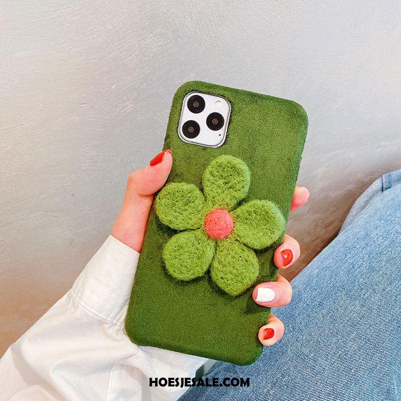 iPhone 11 Pro Max Hoesje Persoonlijk Zacht Pluche Mobiele Telefoon Siliconen Goedkoop