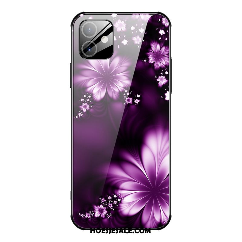 iPhone 12 Hoesje High End Purper Hoes Persoonlijk Anti-fall Goedkoop