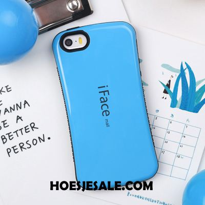 iPhone 5 / 5s Hoesje Blauw All Inclusive Anti-fall Siliconen Lovers Online