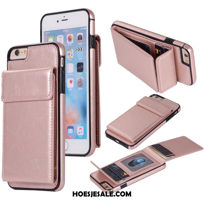 iPhone 6 / 6s Plus Hoesje Mobiele Telefoon Rose Goud Anti-fall All Inclusive Kaart Tas Sale