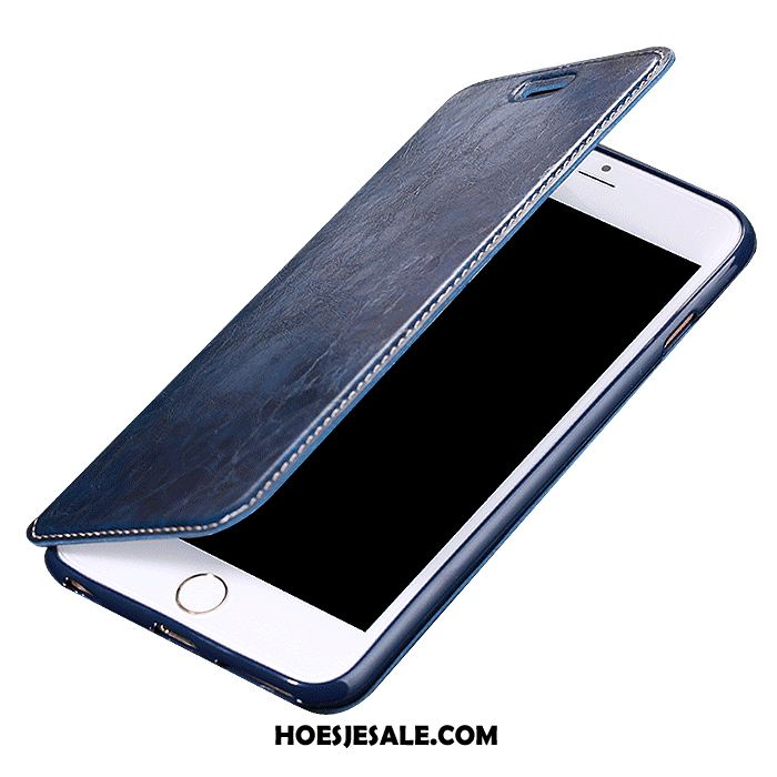 iPhone 8 Hoesje Hoes Clamshell Anti-fall Blauw Dun Korting