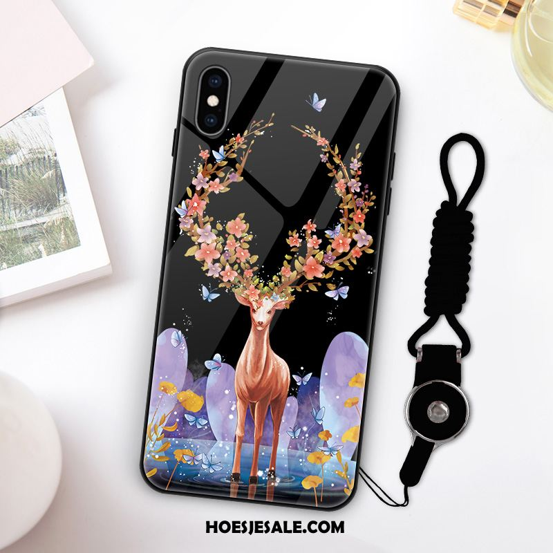 iPhone Xs Hoesje Anti-fall Scheppend All Inclusive Hanger Glas Sale
