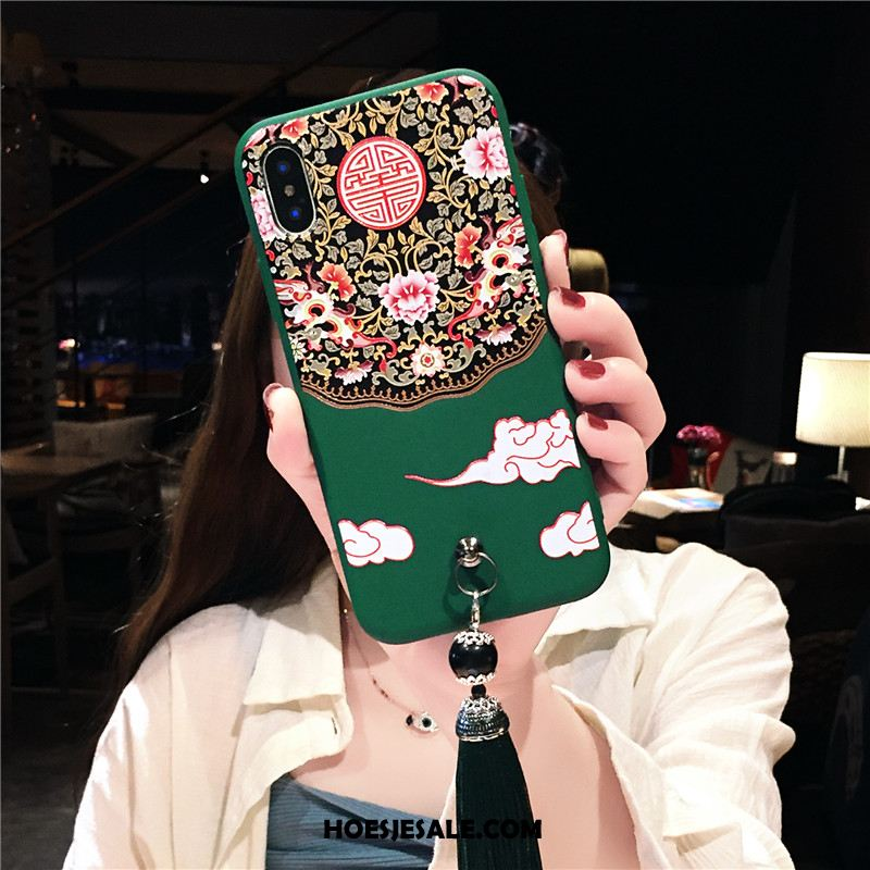 iPhone Xs Hoesje Chinese Stijl Anti-fall Nieuw Ster All Inclusive Goedkoop