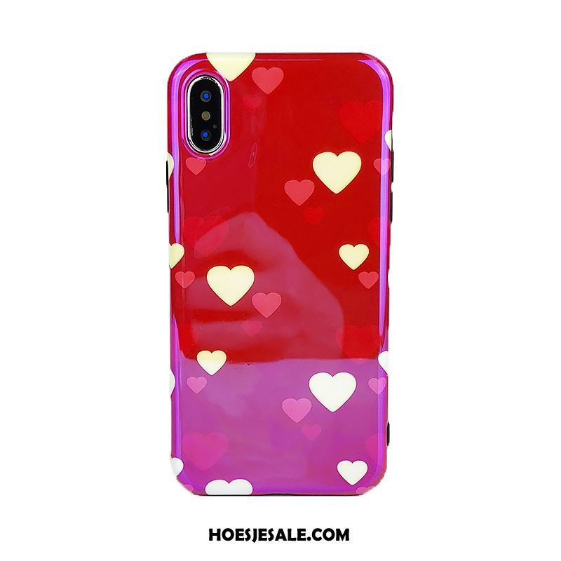 iPhone Xs Max Hoesje Mobiele Telefoon Scheppend Anti-fall Rood Lovers Online